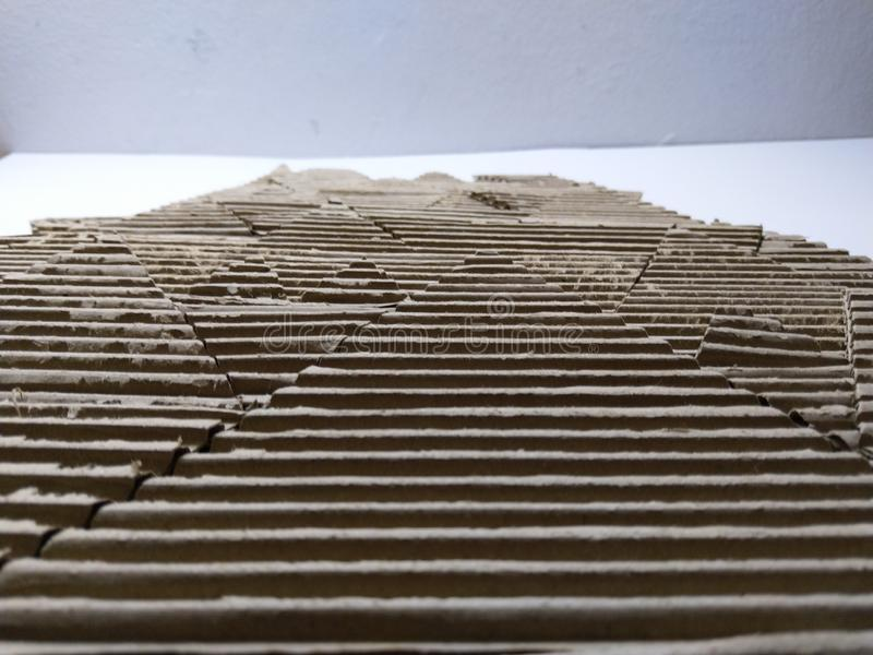 Papplandschaftsmodell stockbild