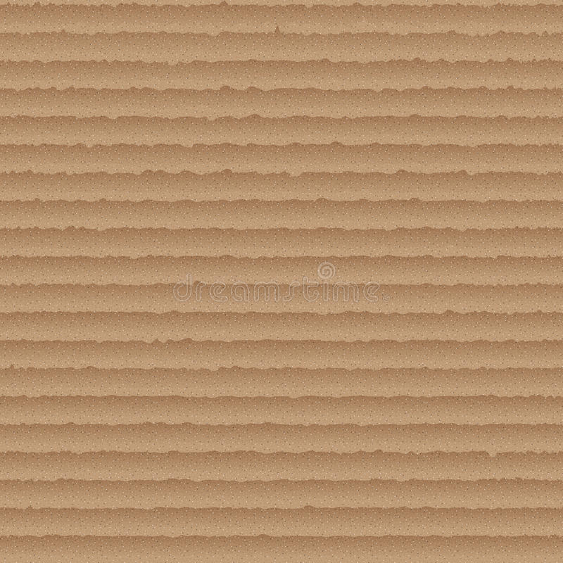 Pappnahtloses Muster - endloser Hintergrund mit braunem Karton stock abbildung