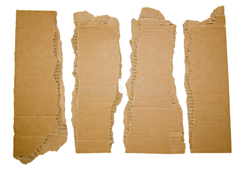 Pappremsor som är sönderrivna med hörn arkivbilder