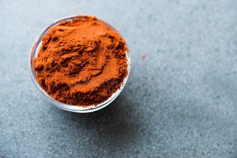 Paprica affumicata in polvere organica asciutta della polvere del peperone fotografia stock libera da diritti