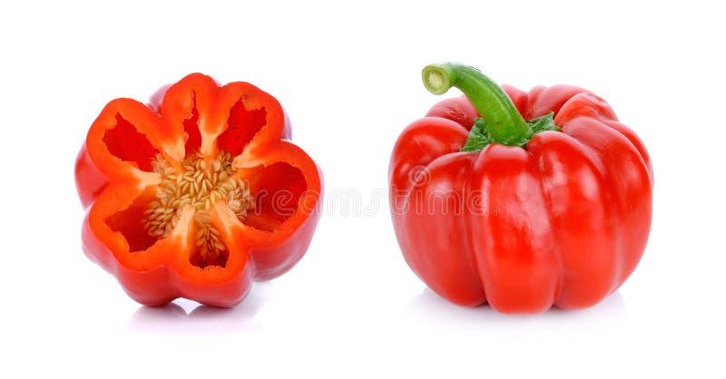 Download Paprica Rossa Isolata Sui Precedenti Bianchi Fotografia Stock - Immagine di maturo, vegetariano: 55358488