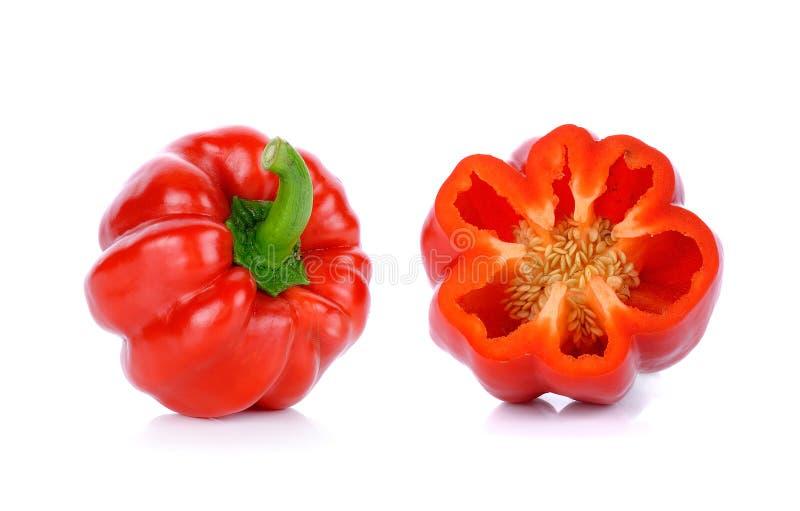Download Paprica Rossa Isolata Sui Precedenti Bianchi Immagine Stock - Immagine di singolo, arancione: 55358503