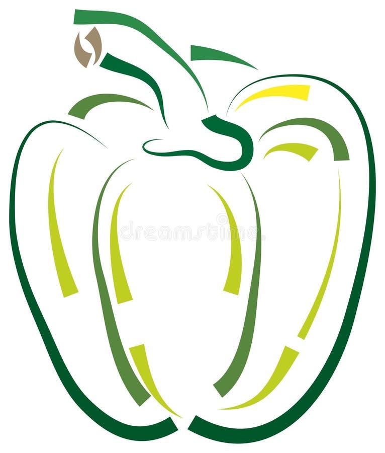 paprika royaltyfri illustrationer