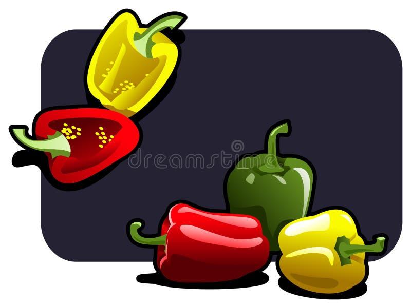 Paprika stock de ilustración