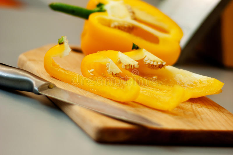 Paprika amarela foto de stock