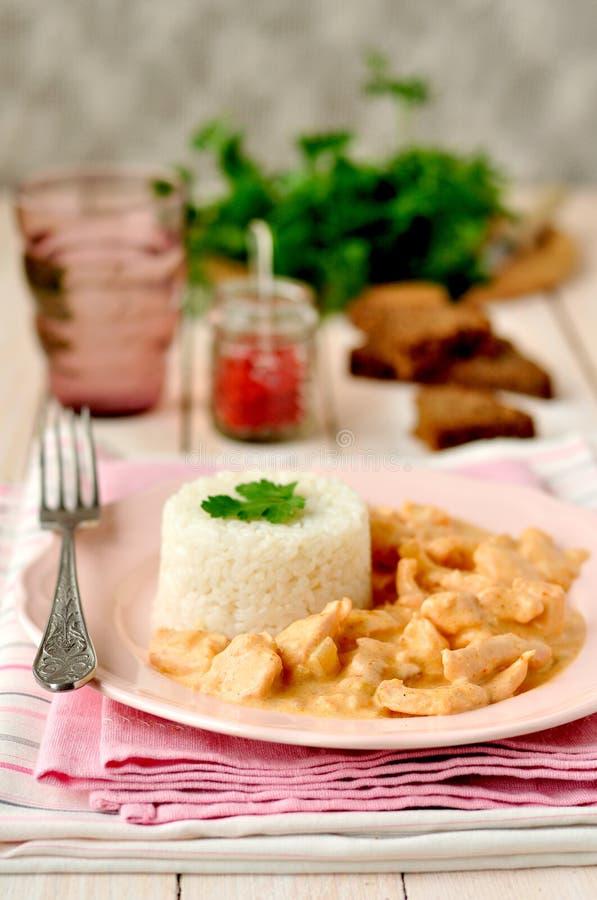 Paprika Chicken Stroganoff stock photos