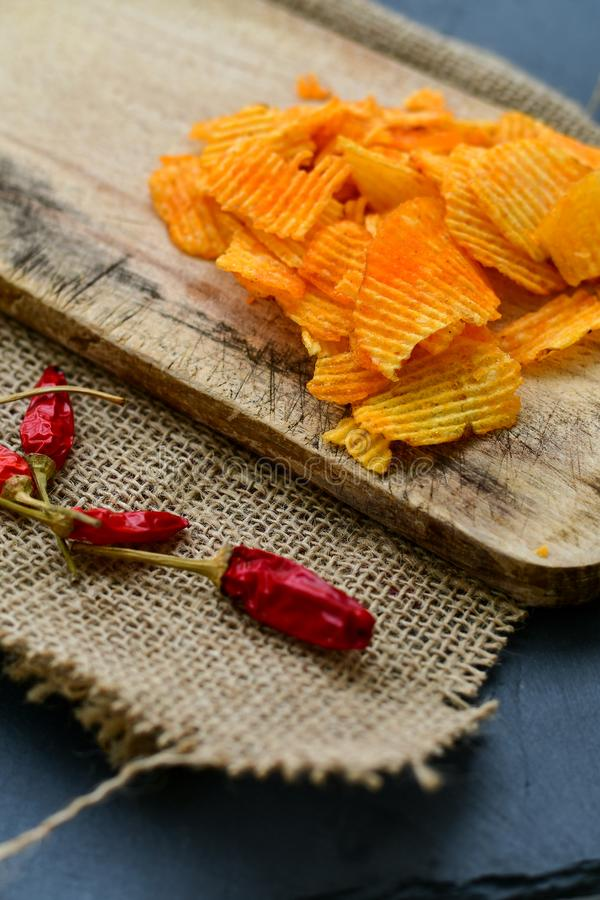 Paprika chips royalty free stock images