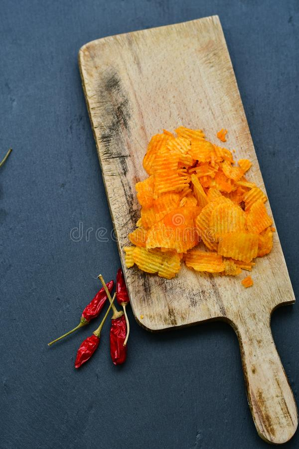 Paprika chips stock photos