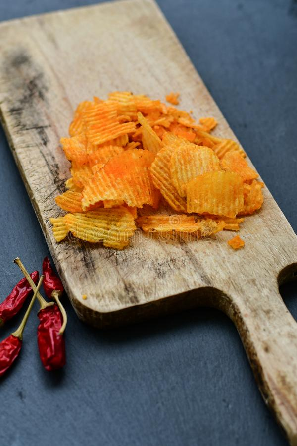 Paprika chips royalty free stock photography