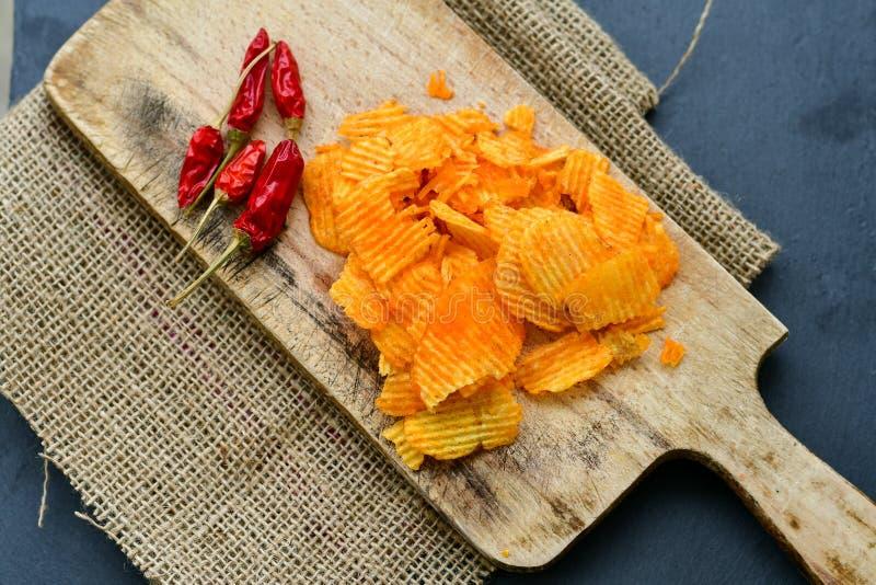 Paprika chips stock photos