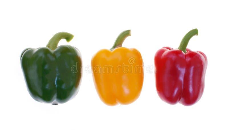 Paprika coloré (poivre) d'isolement photos libres de droits