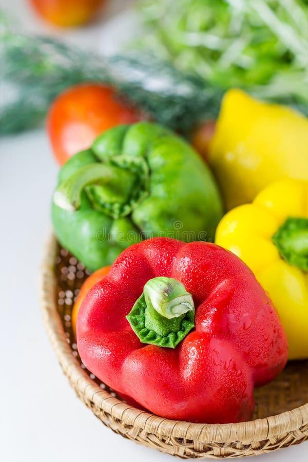 Paprika colorida (pimenta) imagens de stock royalty free