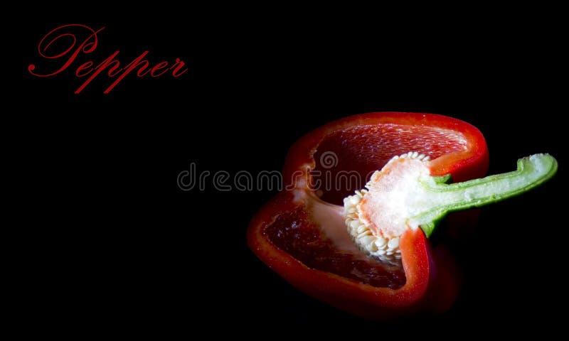 Paprika in een besnoeiing stock foto