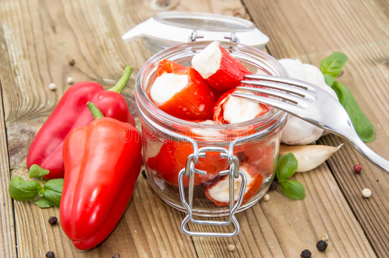 Download Paprika Filled With Creme Cheese Stock Photo - Image: 26530112