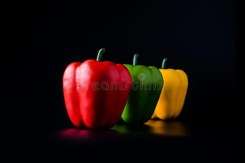 Paprika of Groene paprika of Capcicum royalty-vrije stock foto's