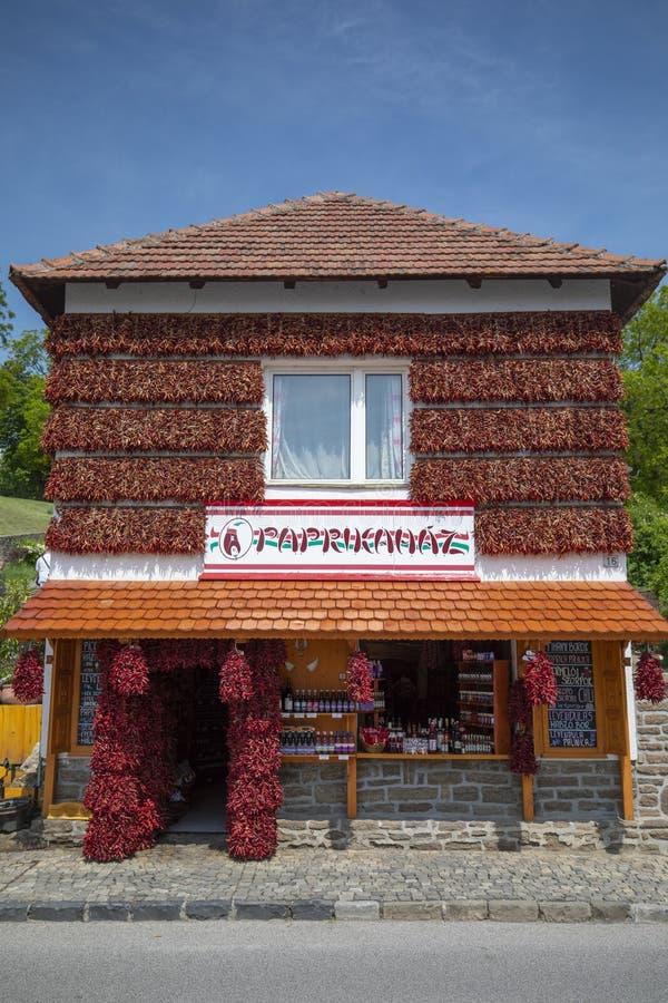 Paprika house in Tihany royalty free stock photos