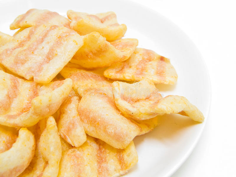 Paprika potato chips. stock image