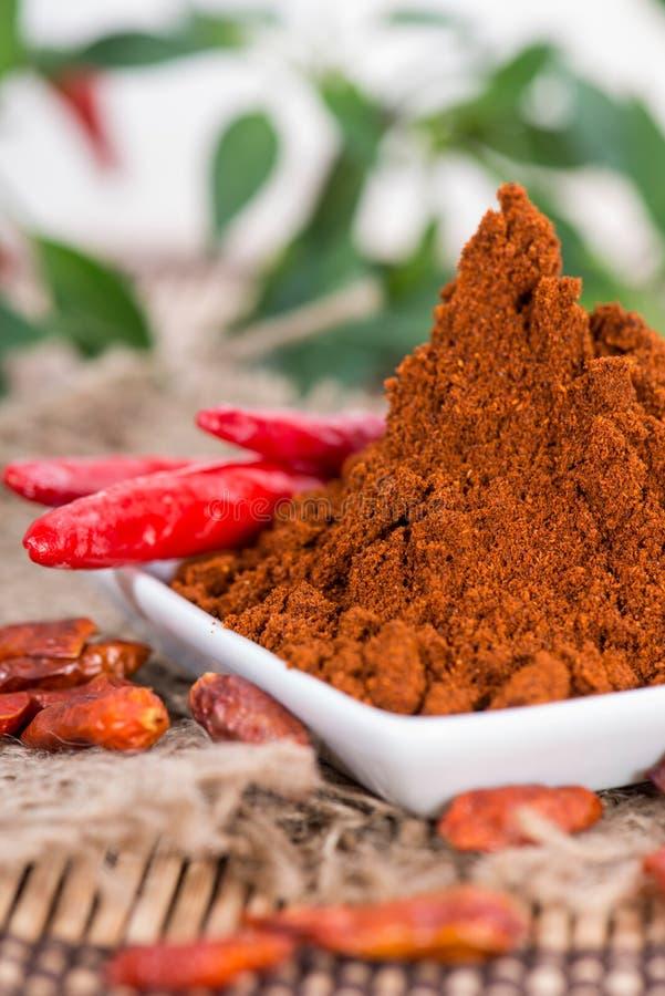 Paprika-Pulver lizenzfreie stockbilder