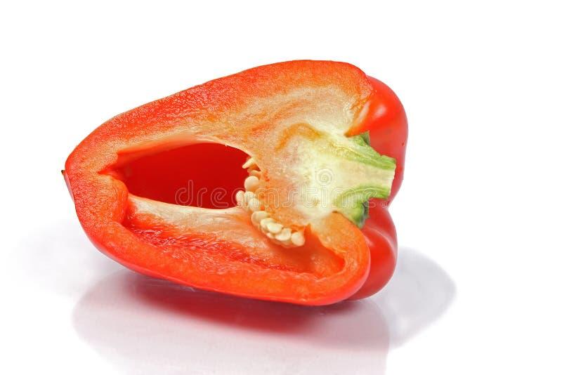 Paprika rojo cortado fotografía de archivo libre de regalías