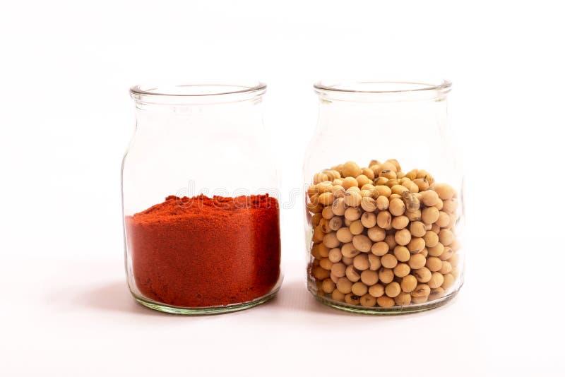 Paprika und Sojabohnen lizenzfreie stockbilder