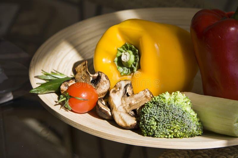 Paprika y chiles con las diversas verduras fotografía de archivo libre de regalías
