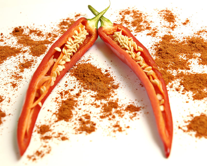 Paprikas spice royalty free stock images