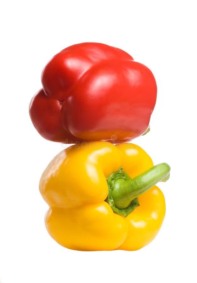 Paprikas très colorés. images stock
