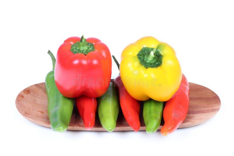 Paprikor och chili royaltyfria foton