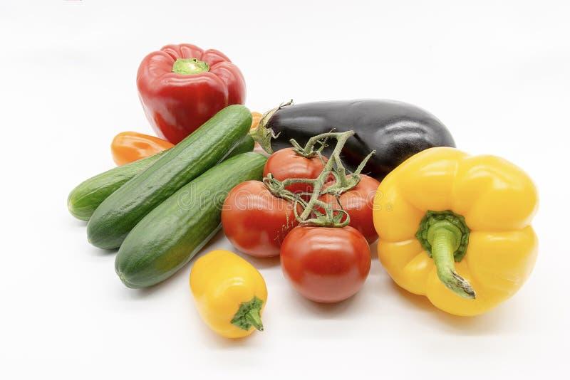 Papryka pomidor?w og?rkowa ober?yna obraz royalty free