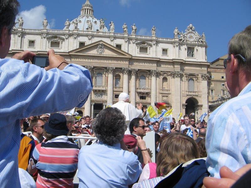 Papst Audience stockfotografie