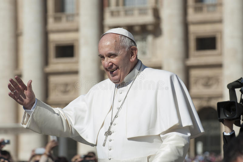 Papst Francis stockfotografie