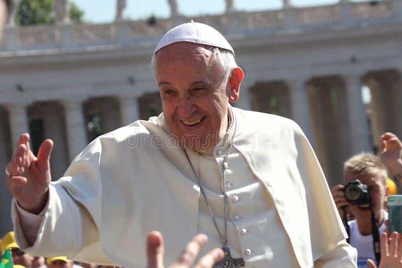 Papst Francis Portrait stockbild