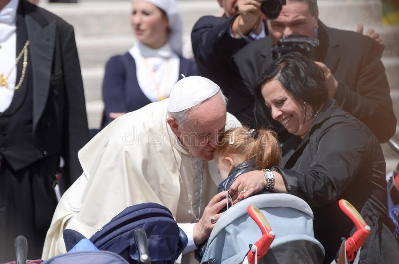 Papst Francis Portrait in der Vatikanstadt stockbilder
