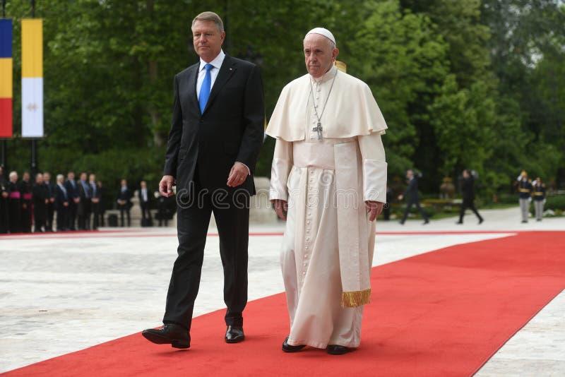 Papst Franziskus-Besuch nach Rum?nien stockbild