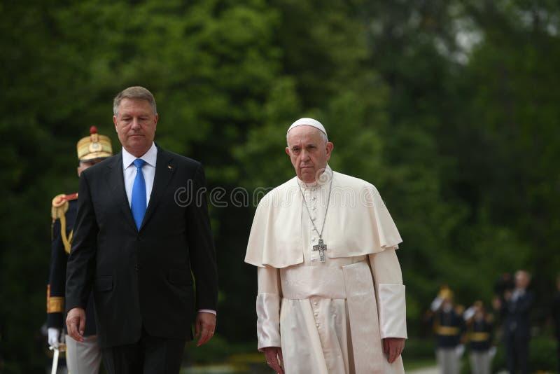 Papst Franziskus-Besuch nach Rum?nien lizenzfreies stockbild