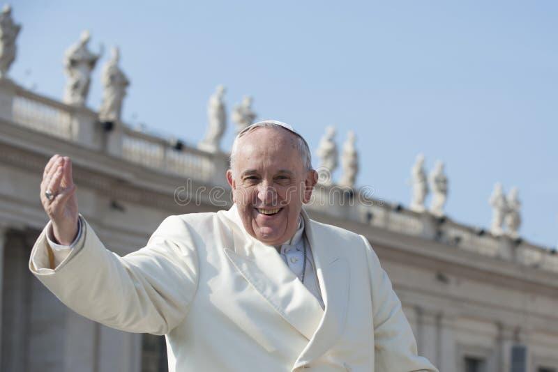 Papst grüßt zuverlässiges stockbilder