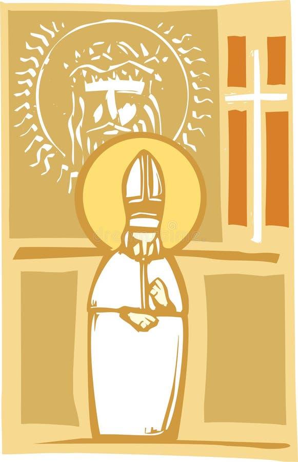 Papst-und Christ-Bilder vektor abbildung