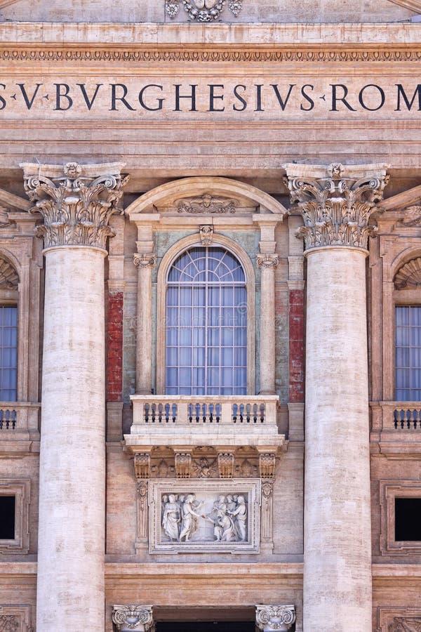 Papstbalkon stockbild