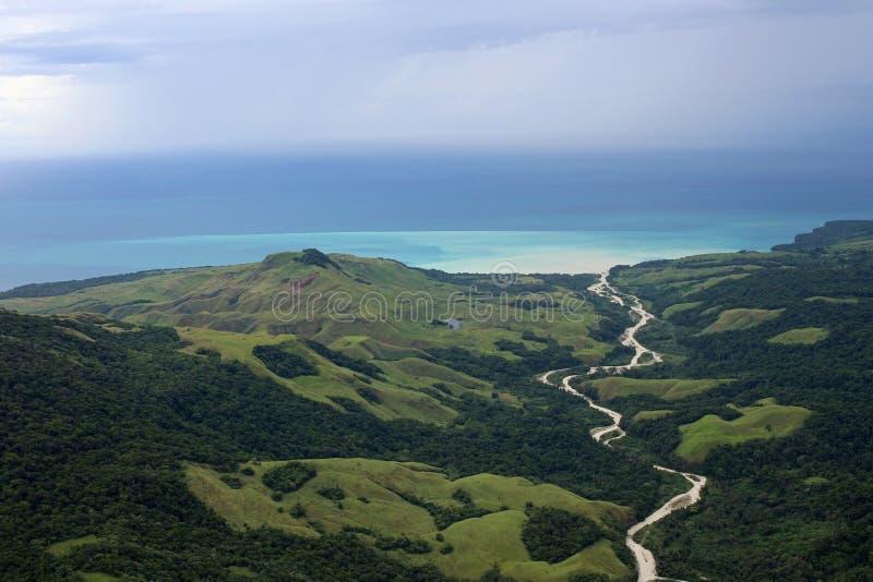 Papua-Neu-Guinea Landschaft stockfoto