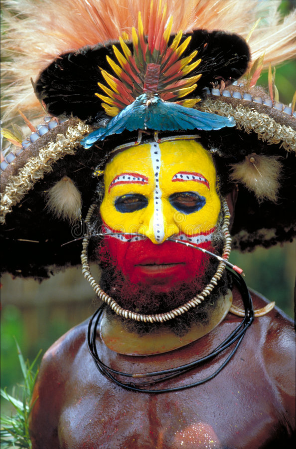 Papua New Guinea. Tribal Face