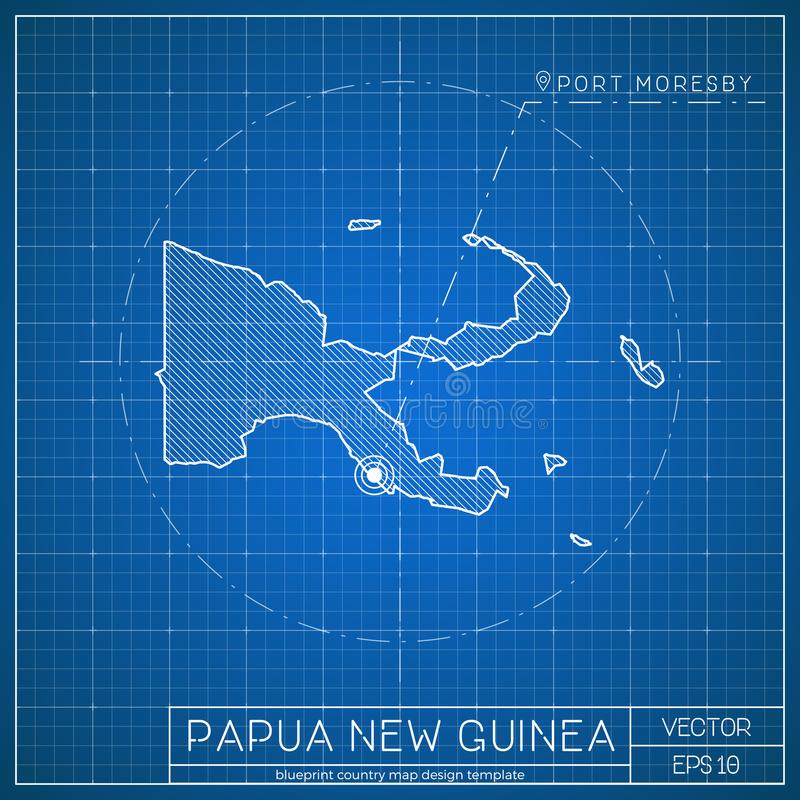 Papua new guinea blueprint map template with stock vector download papua new guinea blueprint map template with stock vector illustration of business malvernweather Images