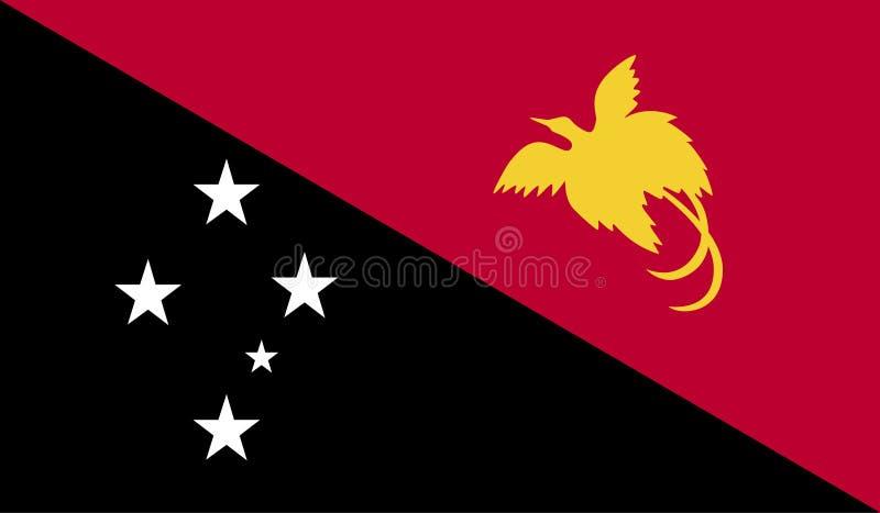 Papua New Guinea flag image vector illustration