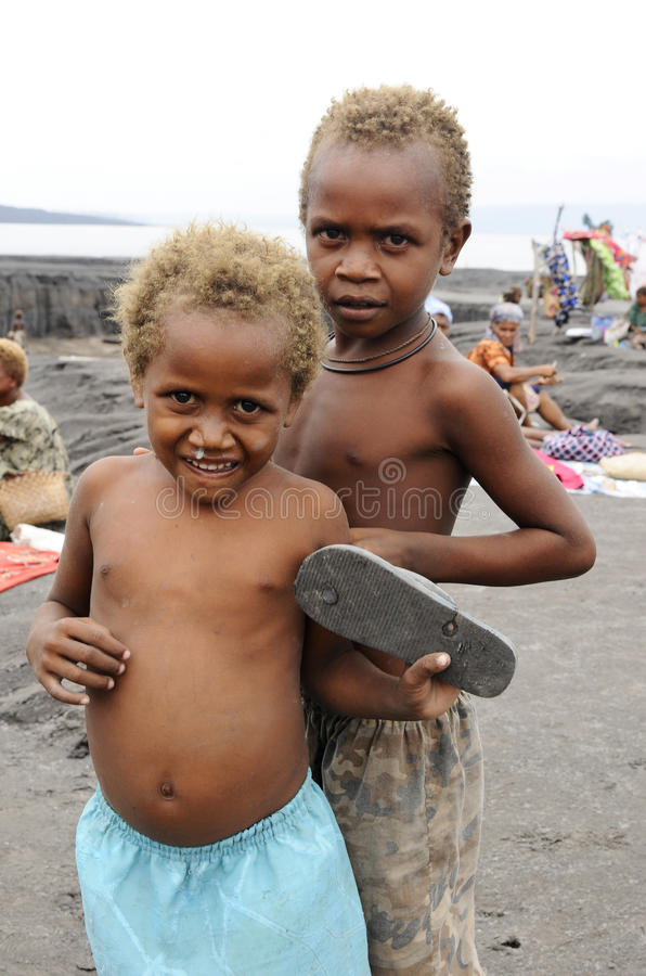 Papua New Guinea People. Children of Papua New Guinea stock images