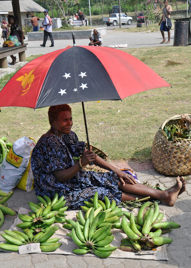 PAPUA NEW GUINEA PEOPLE. Food market, Rabaul, Papua New Guinea royalty free stock photography
