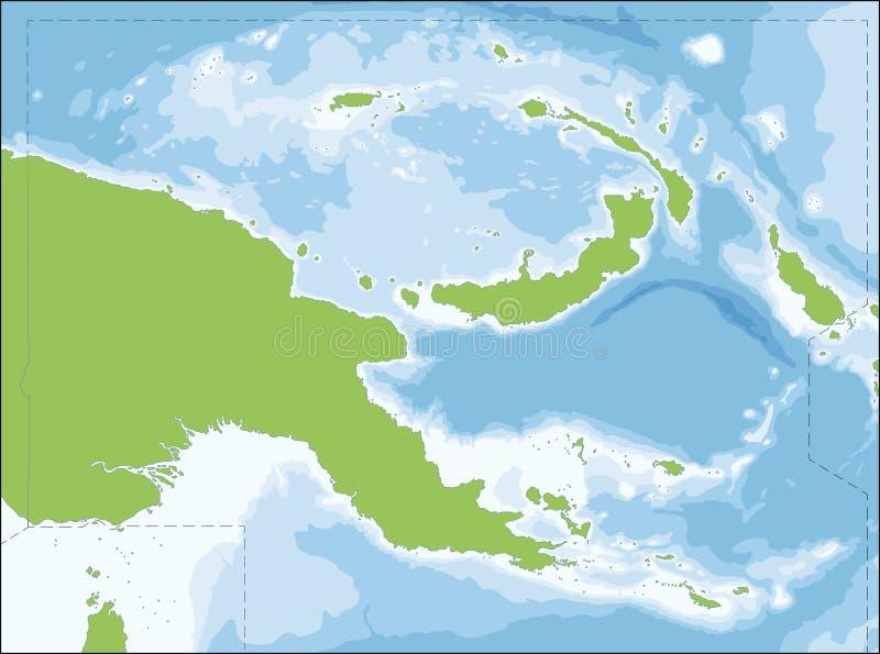 Papua - nowa gwinei mapa royalty ilustracja