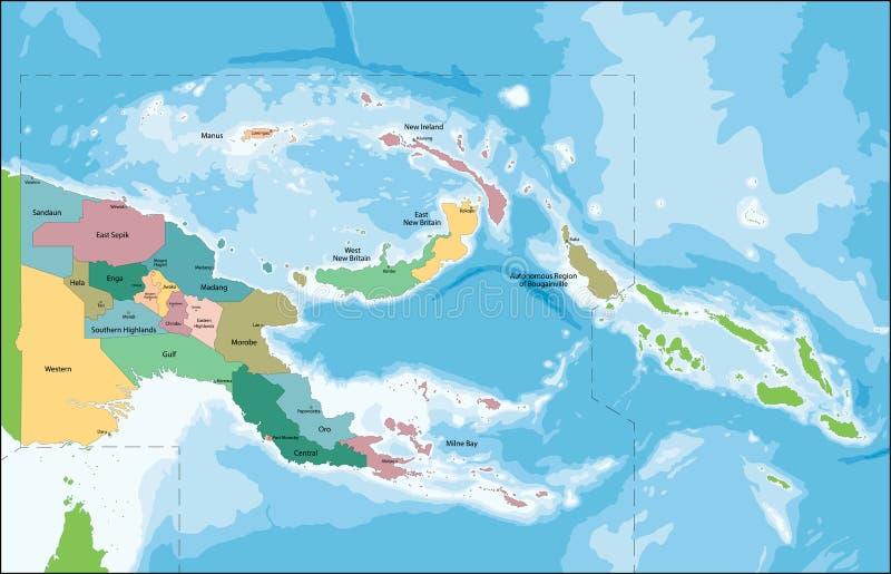 Papua - nowa gwinei mapa ilustracja wektor