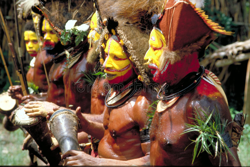 Papua Nueva Guinea, danza imagen de archivo libre de regalías