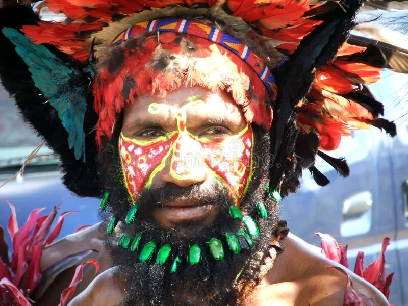 Papua Warrior stock image