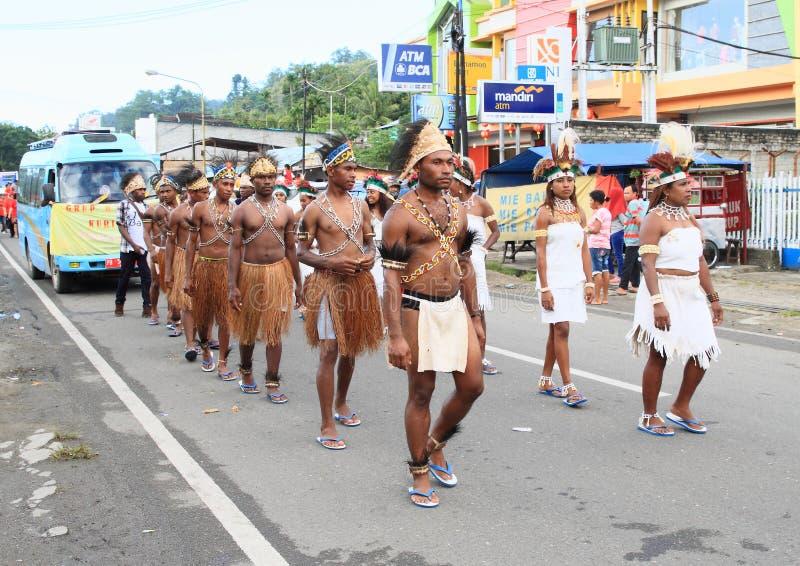 Papuan部落Arfak 库存照片