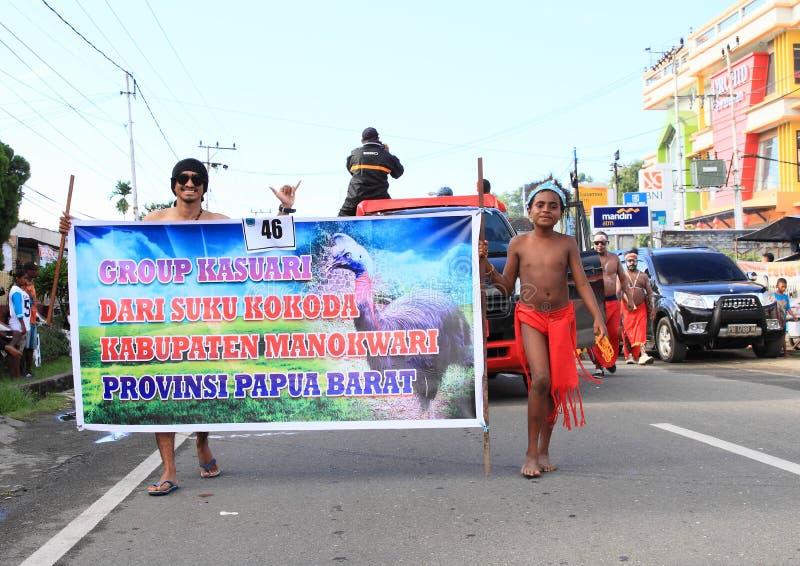 Papuan部落Kokoda 库存图片